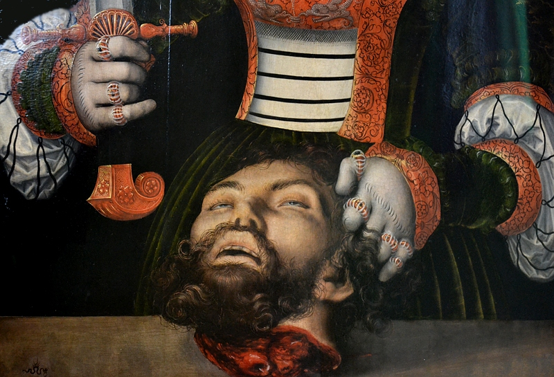Kassel, Gemäldegalerie Alte Meister, Schloss Wilhelmshöhe, Lucas Cranach d.Ä. (Werkstatt), Judith mit dem Haupt des Holofernes