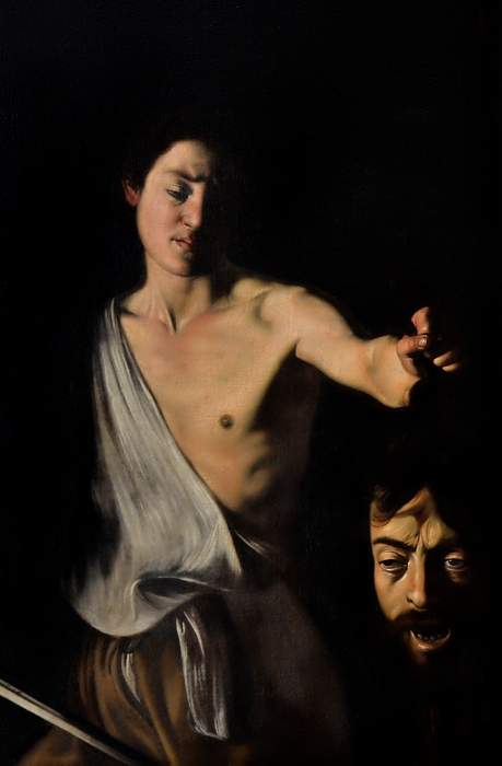 Kassel, gemäldegalerie Alte Meister, Caravaggio, David mit dem Haupt des Goliath (Kopie des 17. Jh.)