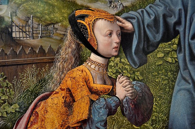 Kassel, Gemäldegalerie Alte Meister, Schloss Wilhelmshöhe, Jacob Cornelisz. van Oostsanen, Christus als Gärtner (Maria Magdalena)