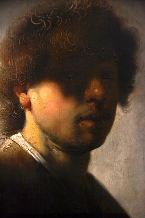 Kassel, Gemäldegalerie Alte Meister, Schloss Wilhelmshöhe, Rembrandt, Selbstbildnis in jungen Jahren