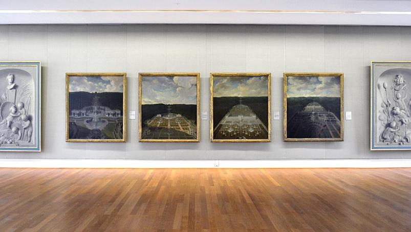 Kassel, Gemäldegalerie Alte Meister, Schloss Wilhelmshöhe, Jan und Rymer van Nickelens, Idealprospekte für Landgraf Karl