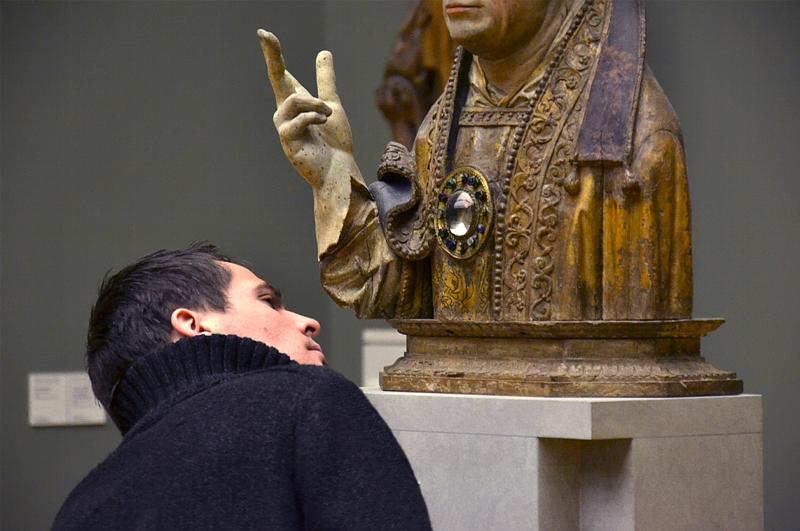 Bode-Museum, Skulpturensammlung, Reliquienbüste eines hl Bischofs, Fabian Fröhlich