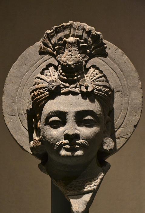 Museum für Asiatische Kunst, Dahlem, Kopf eines Bodhisattva, Gandhara