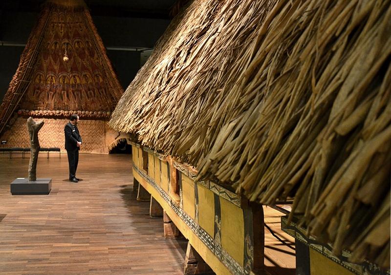 Ethnologisches Museum Berlin-Dahlem, Männerclubhaus von den Palau-Inseln
