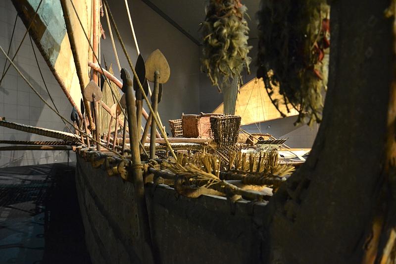 Ethnologisches Museum Berlin-Dahlem, Segelboot von den Westlichen Inseln