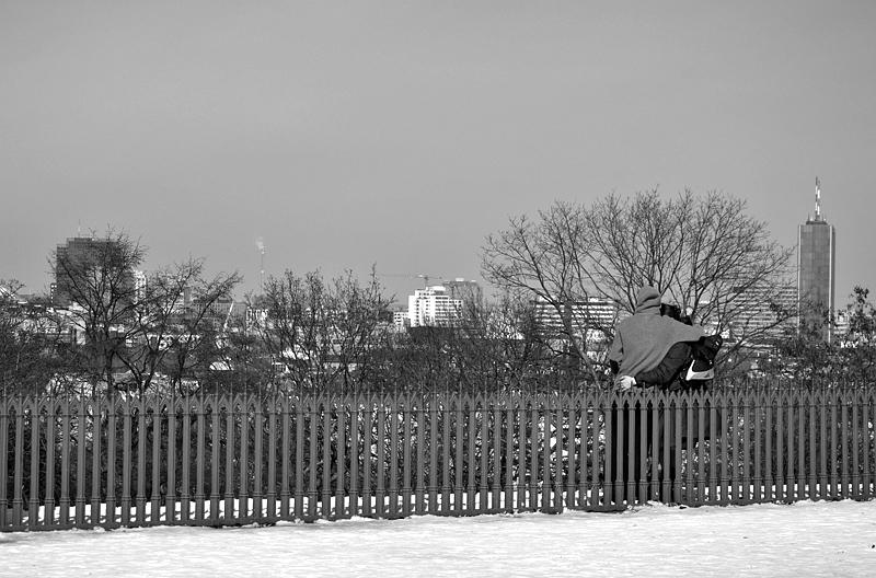 Berlin, Viktoriapark, Blick vom Kreuzberg nach Nordwesten