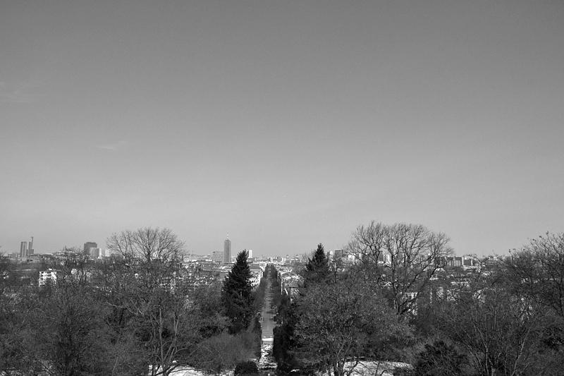 Berlin, Viktoriapark, Blick vom Kreuzberg in die Großbeerenstraße