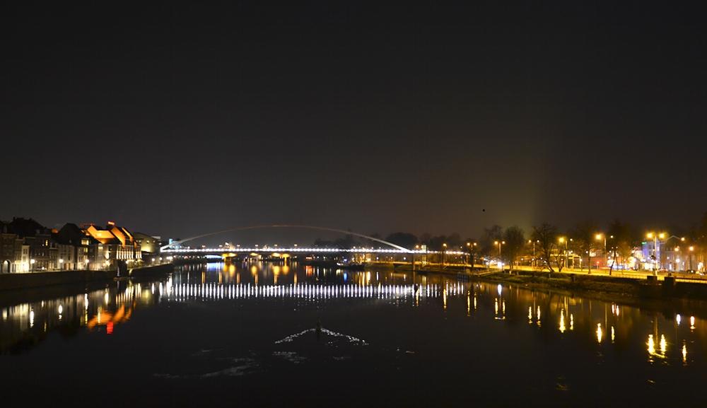 Maastricht, Maas, Hoeg Brögk, Nacht