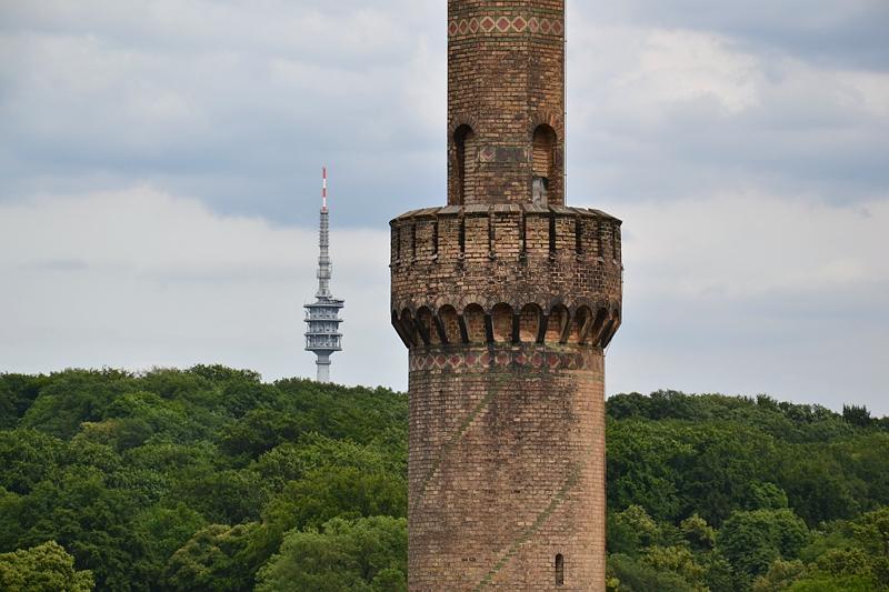 Park Babelsberg, Maschinenhaus und Fernmeldeturm Berlin-Schäferberg
