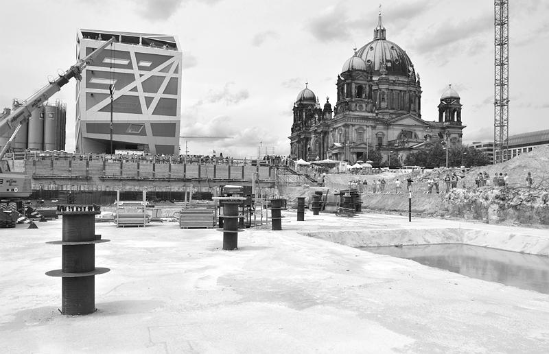 Baustelle Berliner Stadtschloss - Humboldt-Forum, Humboldt-Box und Berliner Dom