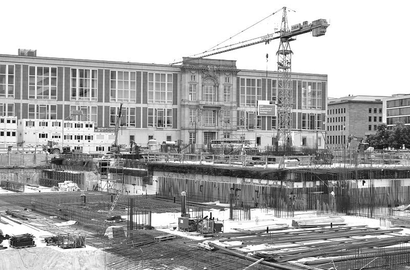 Baustelle Berliner Stadtschloss - Humboldt-Forum, Ehemaliges Staatsratsgebäude
