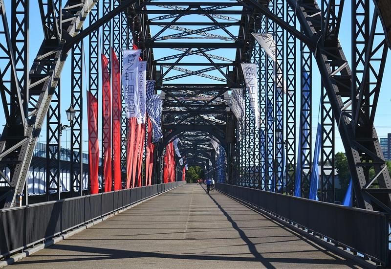 Hamburg, Brücke von Wilhelmsburg nach Harburg