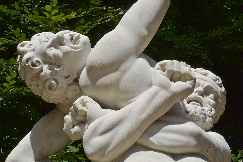 Park Sanssouci, Herkules und Antaeus am Glockenfontänenrondell