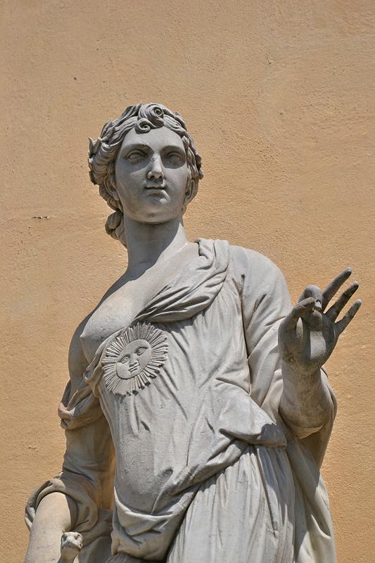 Allegorie der Wahrheit nach langer Zeit von Felice Cocci nach Johann Gottlieb Heymüller an der Bildergalerie, Sanssouci