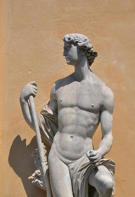 Allegorie der veredelnden Kraft der Künste von Giuseppe nach Johann Peter Benckert an der Bildergalerie