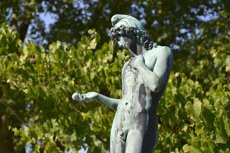 Sanssouci, Paris von Rudolf Schadow nach Antonio Canova am Schloss Charlottenhof