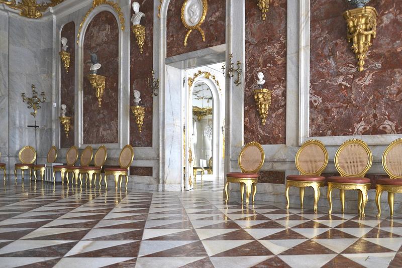 Jaspissaal in den Neuen Kammern, Sanssouci