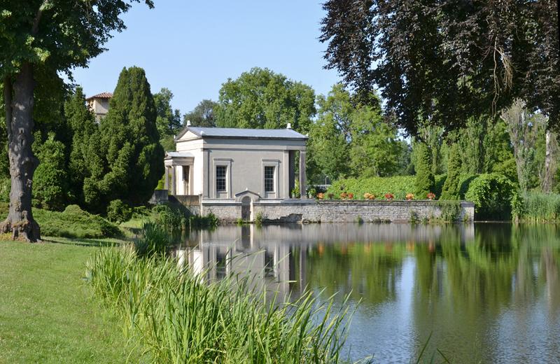 Park Sanssouci, Römische Bäder und Maschinenteich