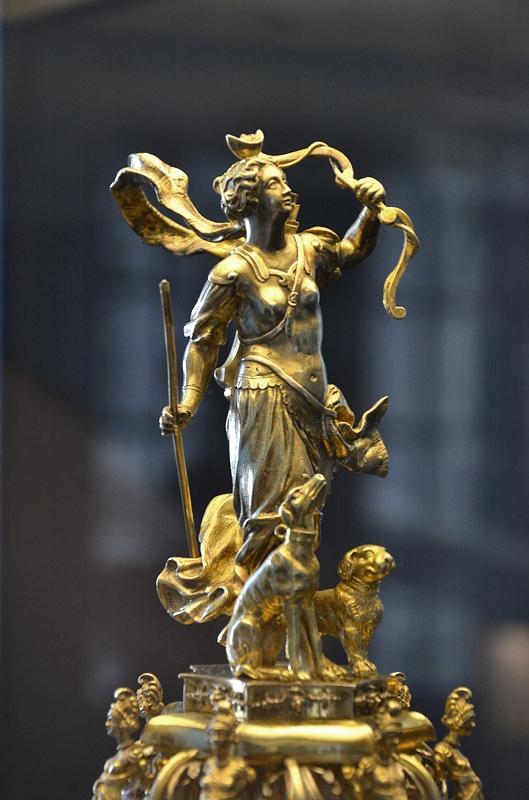 Kunstgewerbemuseum Schloss Köpenick, Pokaldeckel mit Figur der Diana