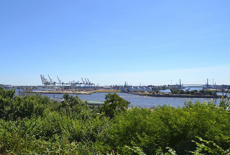 Hamburg Hafen, Blick vom Altonaer Balkon