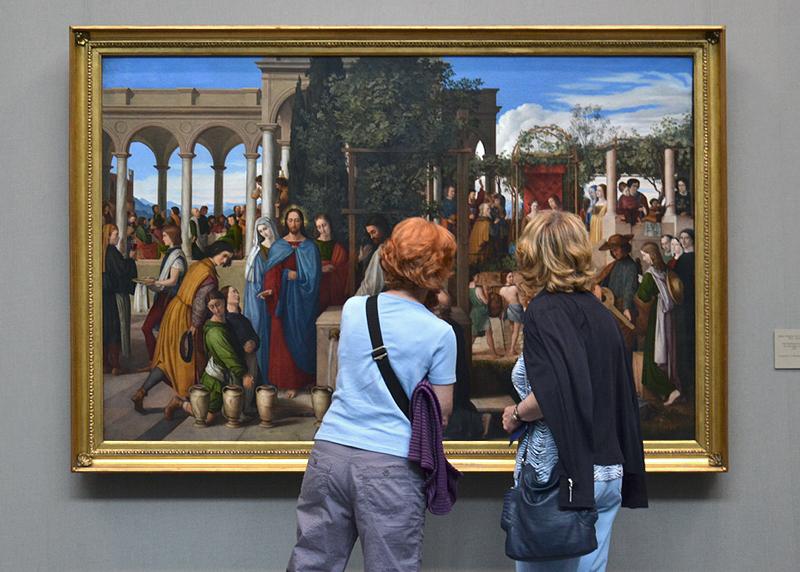 Hamburger Kunsthalle, Julius Schnorr von Carolsfeld, Die Hochzeit von Kana, Besucher