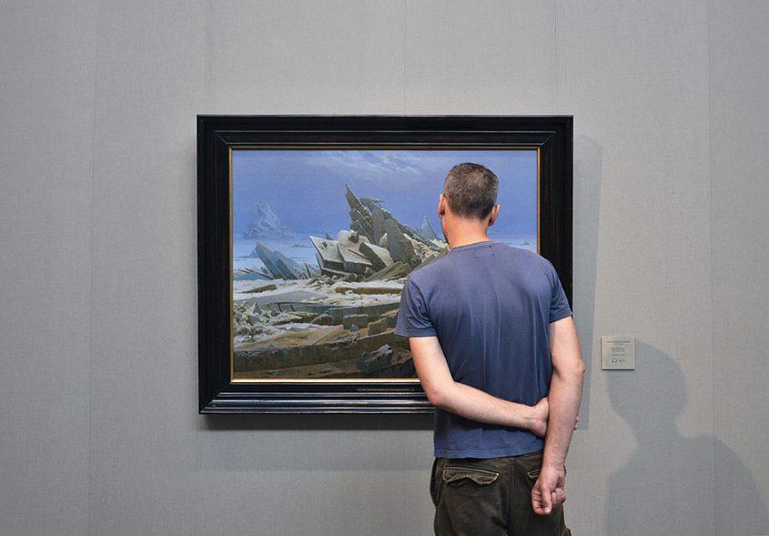 Hamburger Kunsthalle, Caspar David Friedrich, Das Eismeer, Besucher
