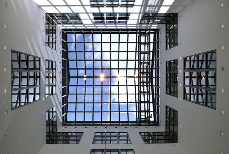 Hamburger Kunsthalle, Glasdach des Lichthofs der Galerie der Gegenwart, Ungers