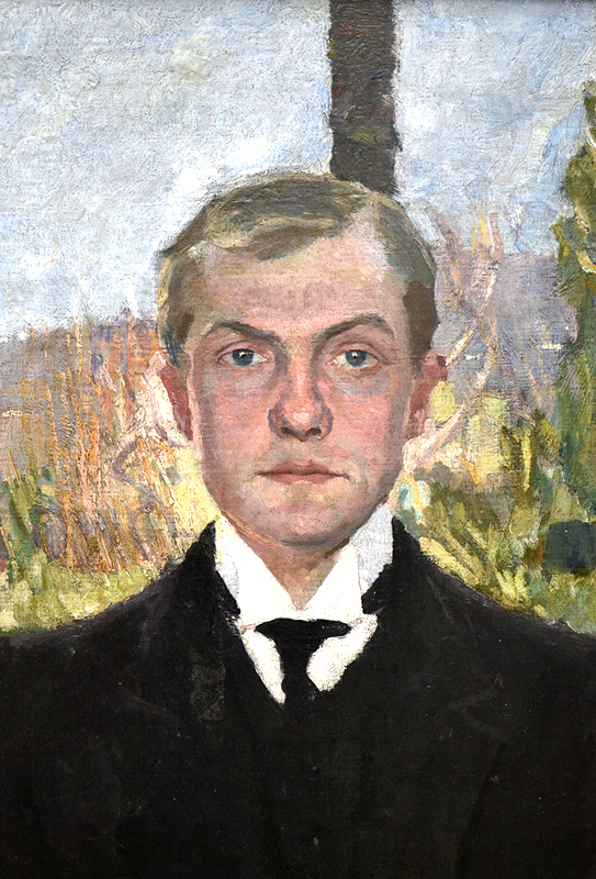 Hamburger Kunsthalle, Max Beckmann, Selbstbildnis als junger Mann