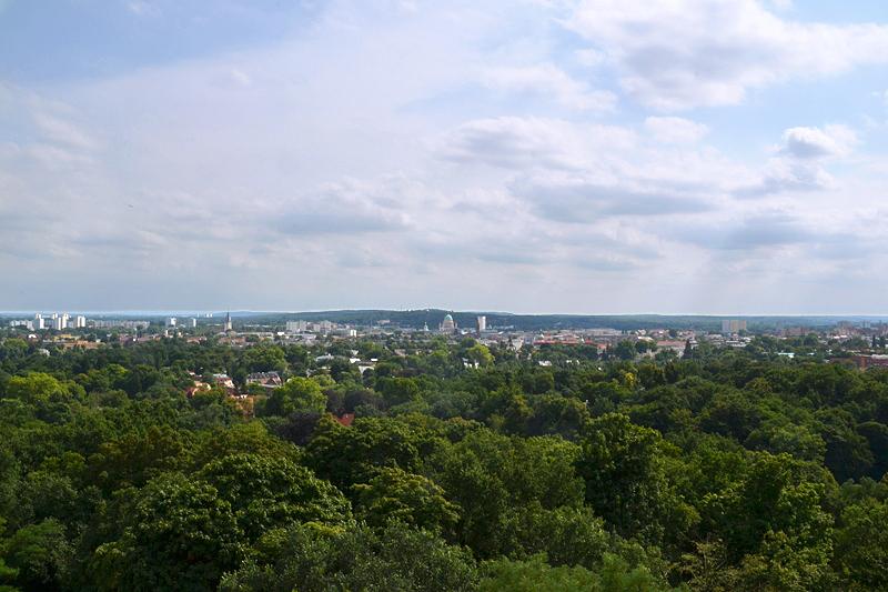 Blick vom Belvedere auf dem Pfingstberg nach Potsdam, Neuer Garten, Potsdam, Fabian Fröhlich