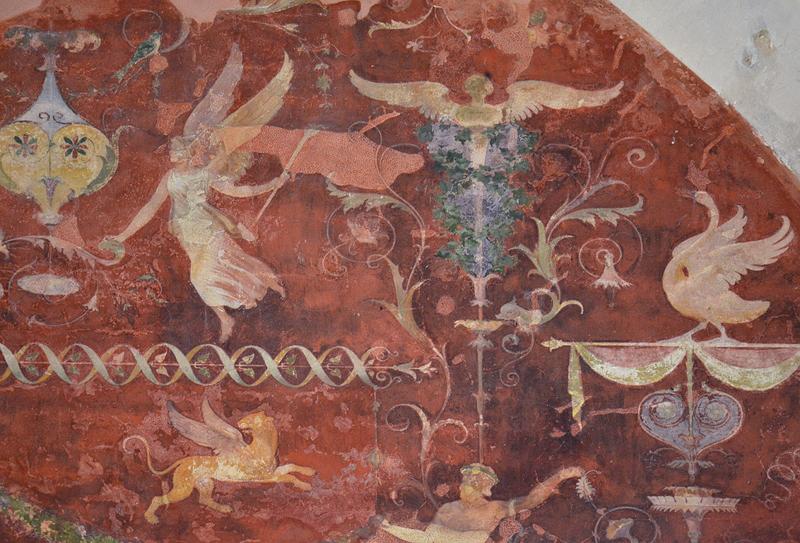 Wandmalerei im Römischen Kabinett, Belvedere auf dem Pfingstberg, Potsdam, Fabian Fröhlich