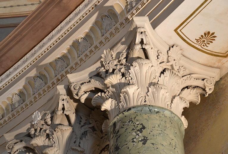Säulenkapitell im Marmorpalais, Neuer Garten, Potsdam, Fabian Fröhlich