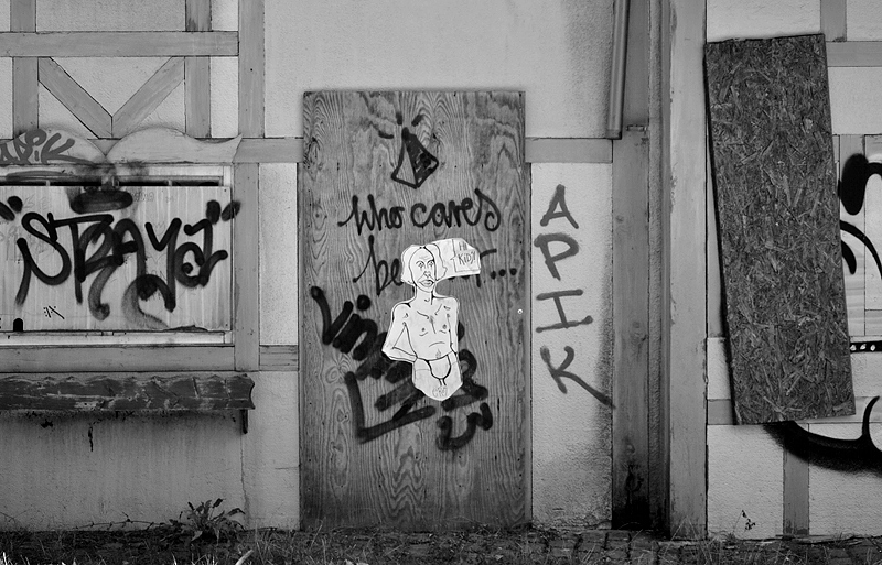 Spreepark Plänterwald im Herbst, Graffiti, Old England, Fabian Fröhlich