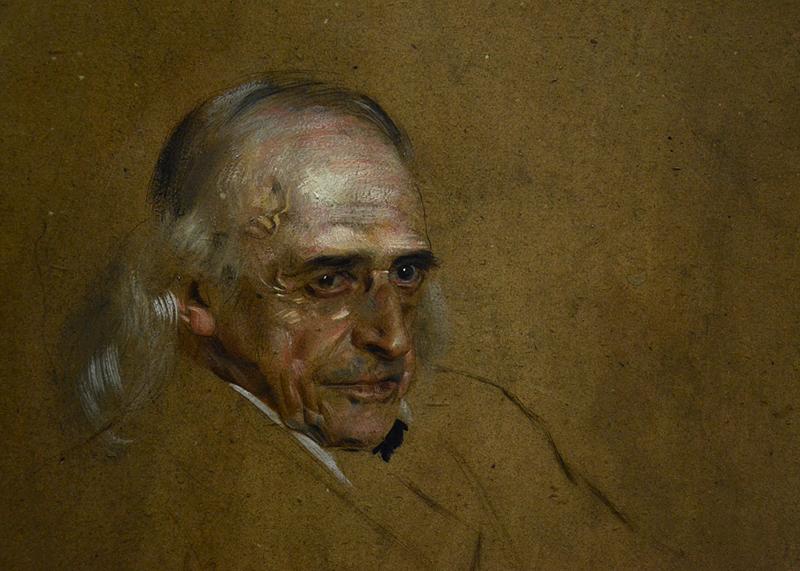 Alte Nationalgalerie, Franz von Lenbach, Porträt Theodor Mommsen