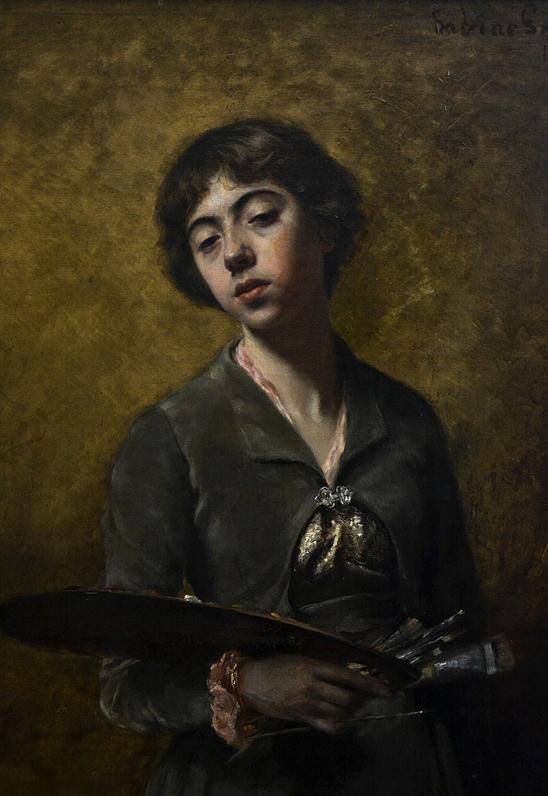 Alte Nationalgalerie, Sabine Lepsius, Selbstporträt