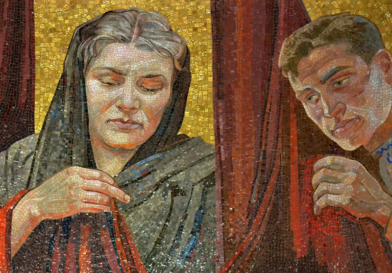 Mosaik von Alexander A. Gorpenko, Sowjetisches Ehrenmal, Berlin Treptow Park