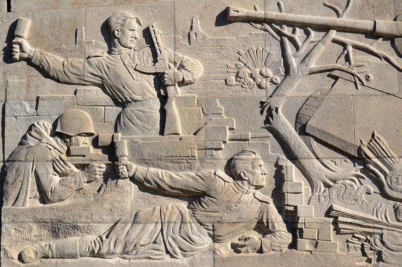 Sarkophag, Geschichte des Vaterländischen Krieges der Sowjetvölker, Sowjetisches Ehrenmal, Berlin Treptow Park