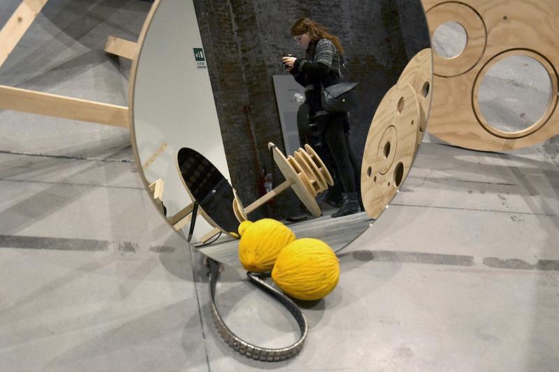 Biennale 2013, Arsenale, Marcello Maloberti, La voglia matta, Italy Pavilion