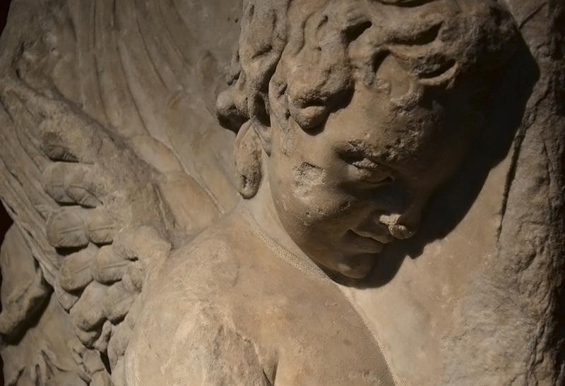 Berlin, Pergamonmuseum, Friesfragment mit Eros vom Trajansforum in Rom