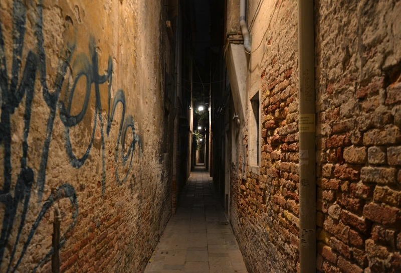 Venice at Night, Alley