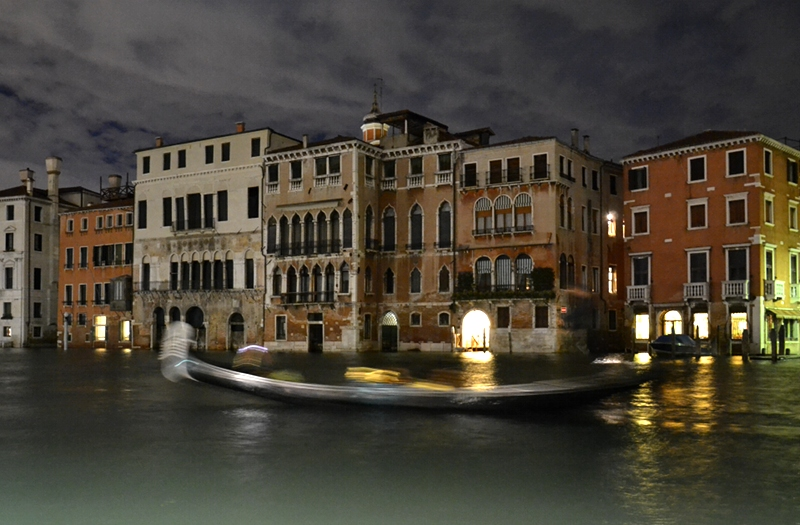Venice at Night, Canale Grande, Gondola