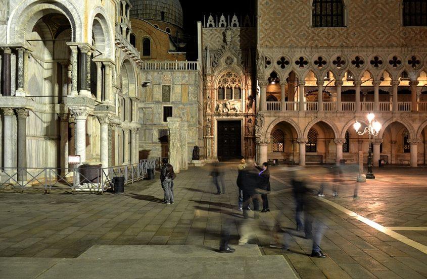 Venice at Night, Piazetta San Marco, Porta della Carta
