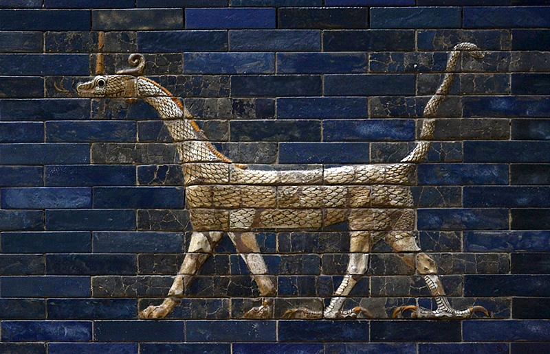 Sirrusch, Vorderasiatisches Museum, Drache vom Ischtar-Tor aus Babylon
