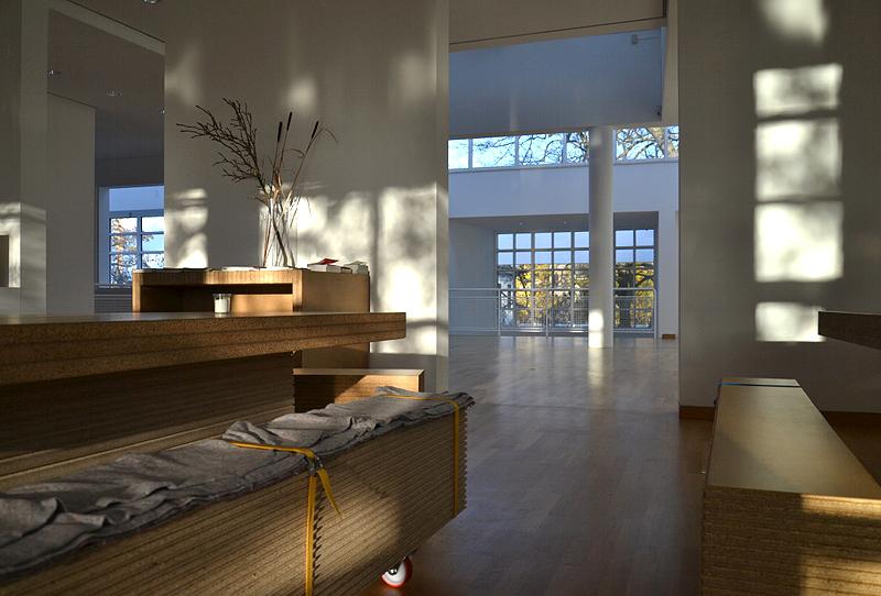 Museum Angewandte Kunst, Frankfurt, Bistro, Richard Maier, Architektur