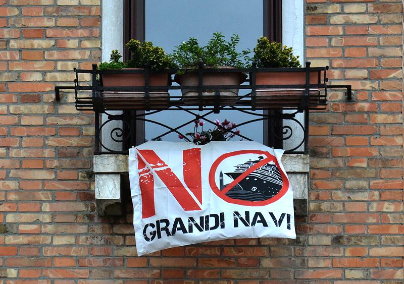Venezia, No Grandi Navi, Protest gegen Kreuzfahrtschiffe