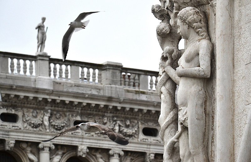 Venice, Palazzo Ducale, Adam and Eve