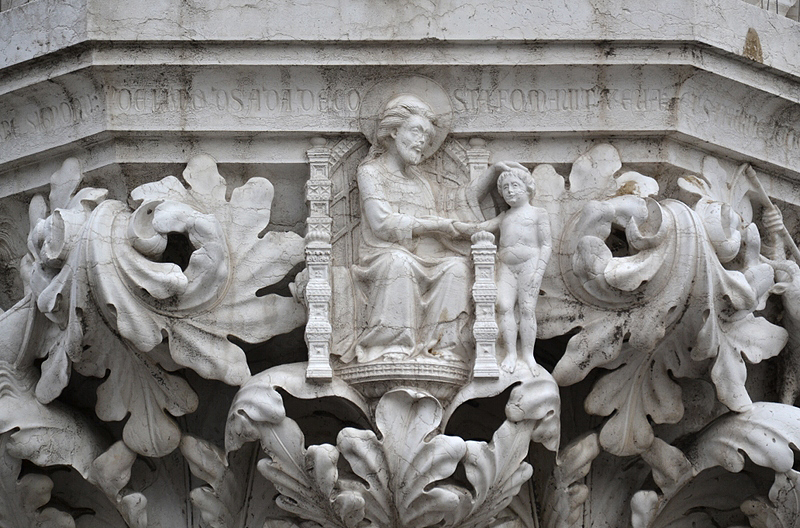 Venice, Palazzo Ducale, Capital (God and Adam)