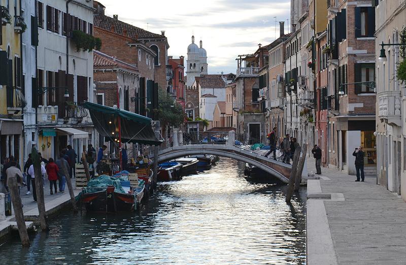 Venezia, Rio di San Barbara und Ponte dei Pugni, Brücke der Fäuste