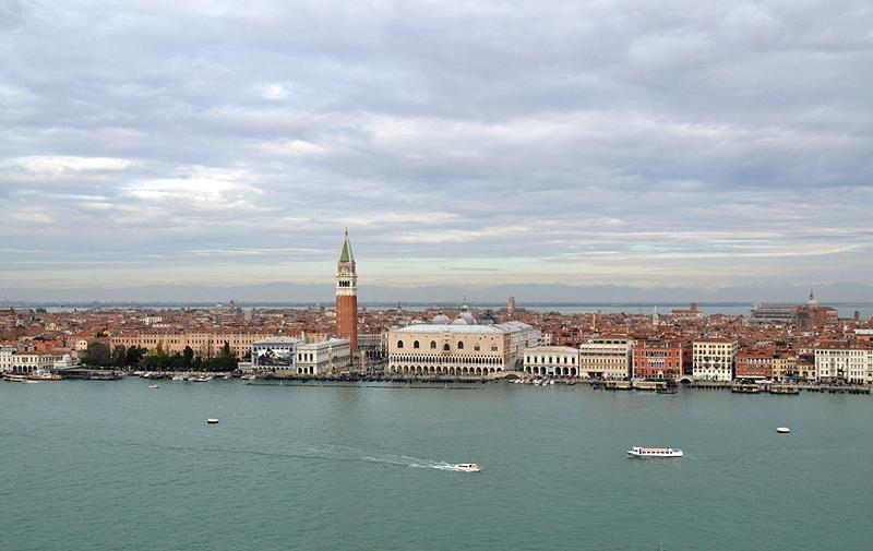 Venice, Viwe from San Giorgio Maggiore to Lido