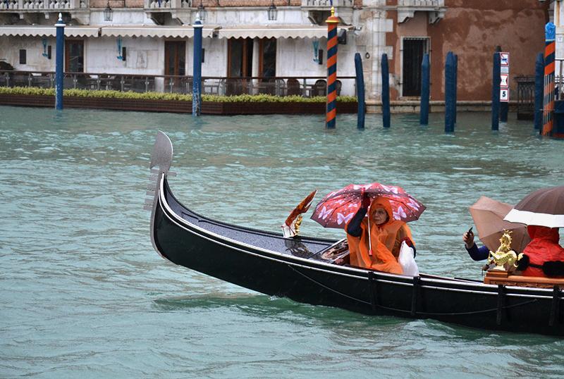 Venice, Canal Grande, rain, Gondola