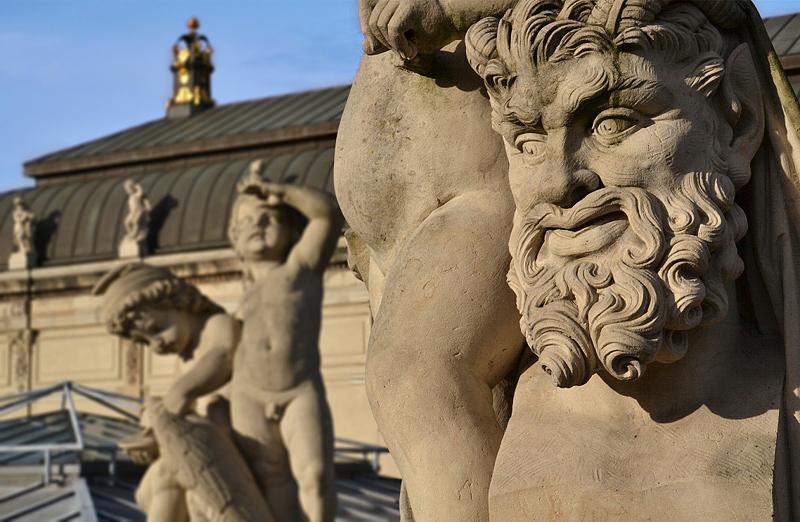 Zwinger Dresden, Skulptur, Faun, Porzellanpavillon